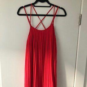 BCBG Generation Coral Pleated Mini Dress